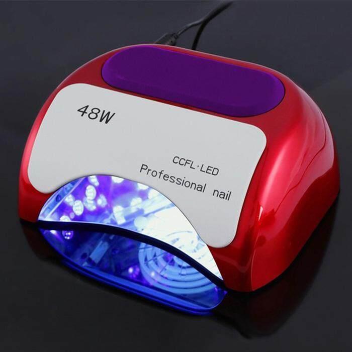 ASTAR 48 W LED Ganda Uv Lampu Pengering Cat Kuku 3 Timer Senor untuk Kuku Kaki Kuku Menyembuhkan Bahasa Polandia Gel