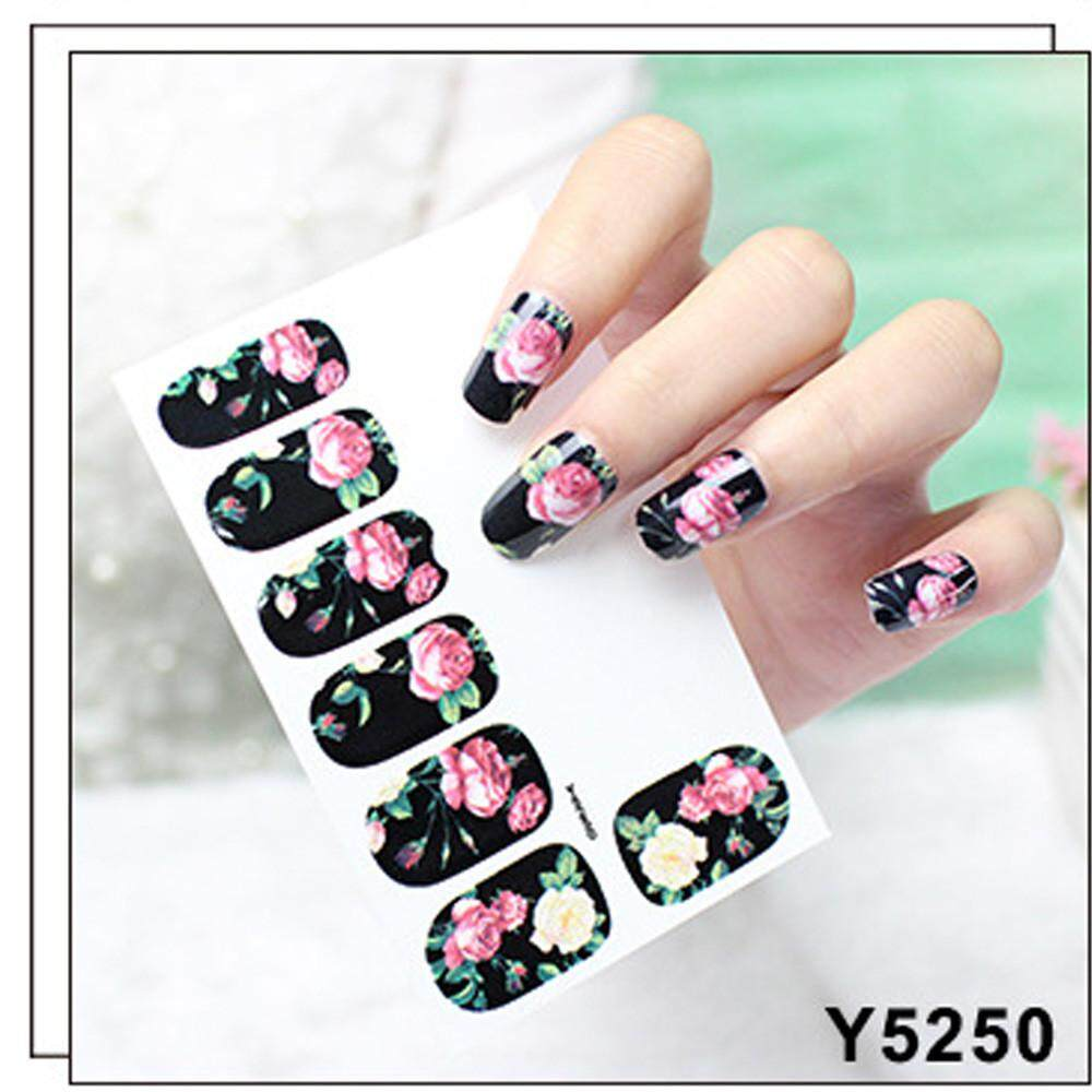 Fashion Multifunctional 12pcs New DIY Nail Wraps Stickers Patch Foils Art Decals Nail Art Decals E - intl Philippines