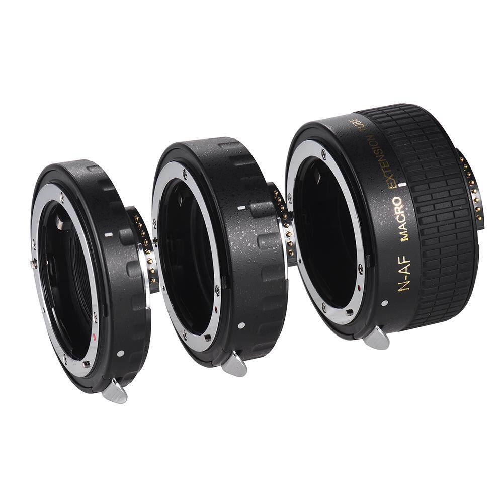 Auto Focus Macro Extension Tube Set Copper AF Macro Lens Extension Tube Ring with Covers for Nikon D300 D7000 D7100 D7200 D800 D810 D850 D5500 D5600 D5100 D5300 D3300AL Lenses