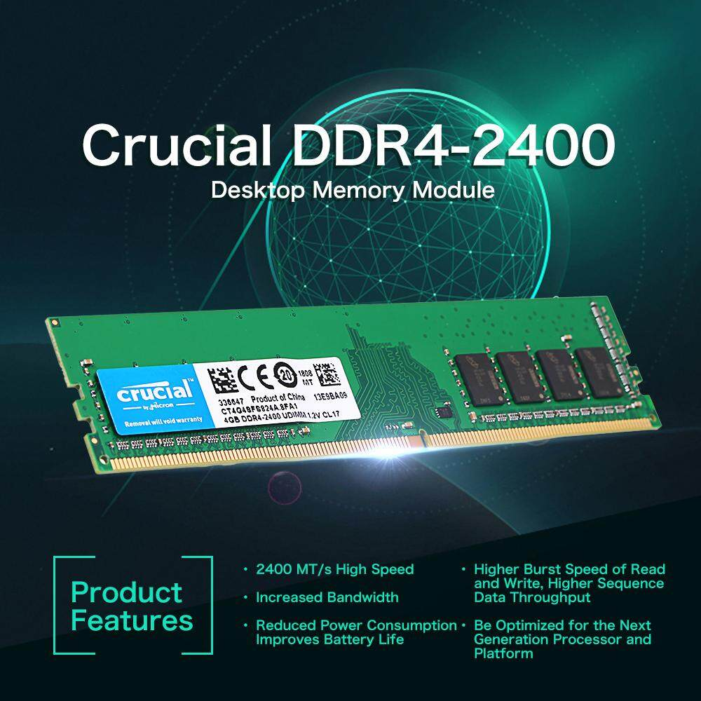 Buy Sell Cheapest Crucial 4gb Ddr4 Best Quality Product Deals Memory Pc Venom Rx Ddr3 Pc12800 Penting 4 Gb 2400 Mhz Mt S Cl17 12 V Pc4 19200