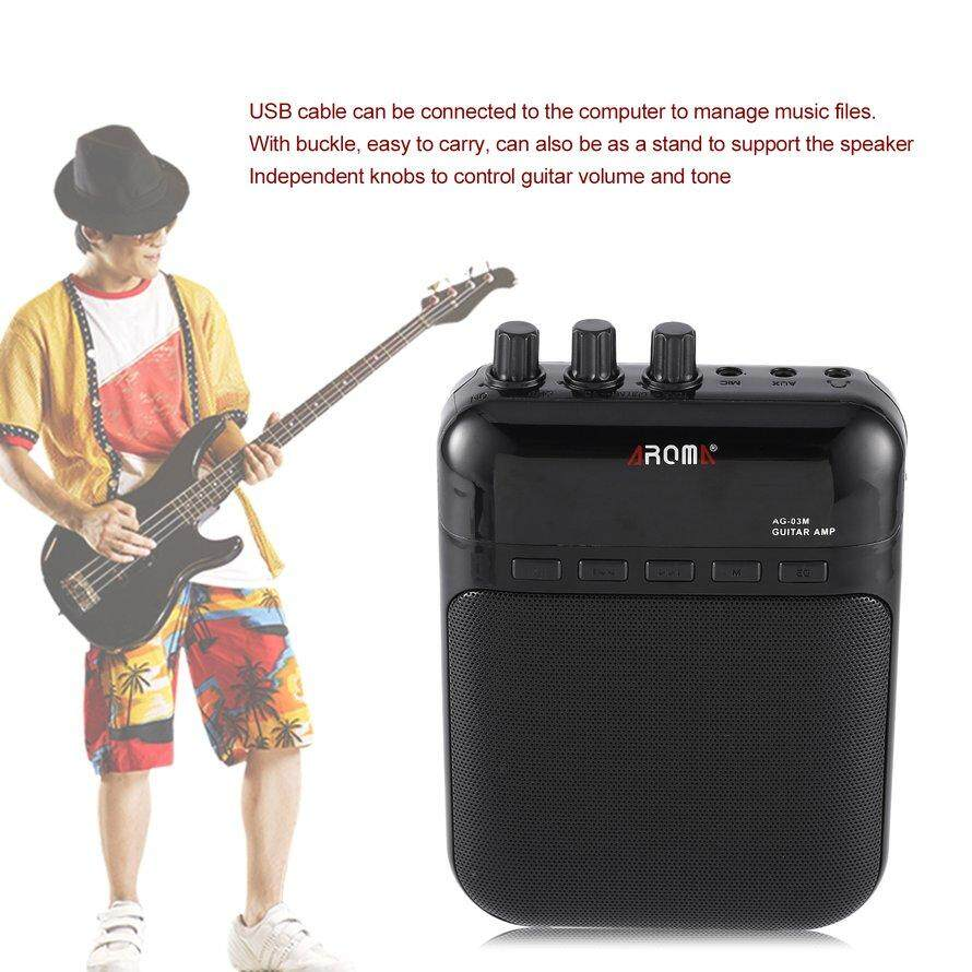 OSMAN Aroma AG-03M 5W Guitar Bass Amp Amplifier Recorder USB Rechargeable Speaker 3Pcs Free Shipping