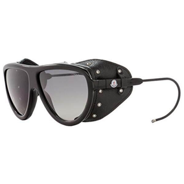 Sunglasses MONCLER NOIR ML 4 01D shiny black / smoke polarized