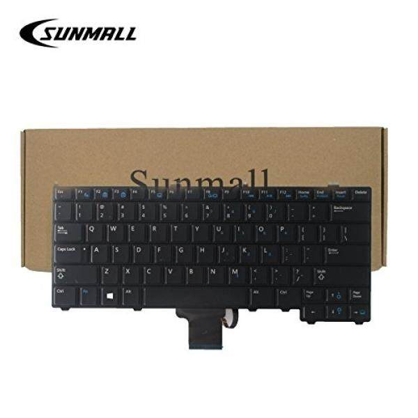 SUNMALL Backlit Keyboard Replacement without pointer for Dell Latitude 14 7000 E7440 E7240 E7420 series Black US Layout(6 Months Warranty) - intl