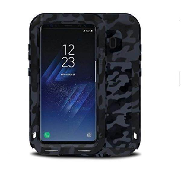 Samsung Galaxy S8 Plus Metal Case, Love Mei Camo Series Heavy Duty Armor Tank Extreme Shockproof Dust/Dirt Proof Aluminum Metal Case Cover for Samsung Galaxy S8 Plus (6.2inch) (City) - intl