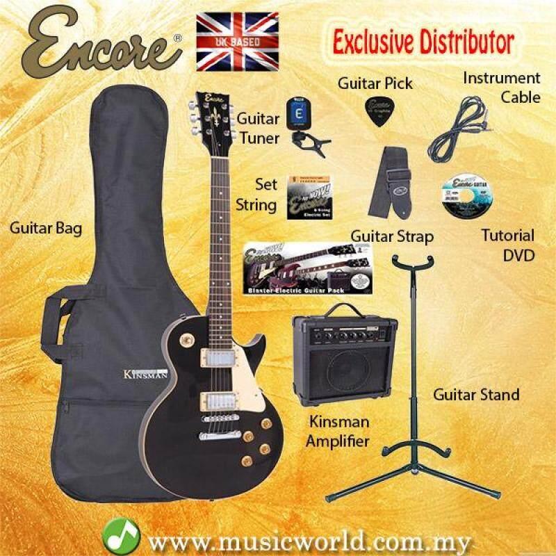 ENCORE EBP-E99BLK Black Electric Guitar Package Starter Pack Electric Guitar Bundle Malaysia