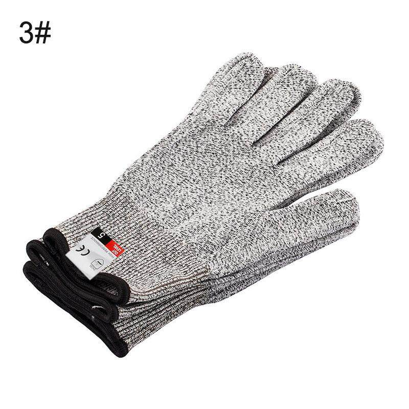 PAlight 1 Pair Cut Resistant Gloves Food Grade Level 5 Protection Safety Kitchen Outdoor Gloves -