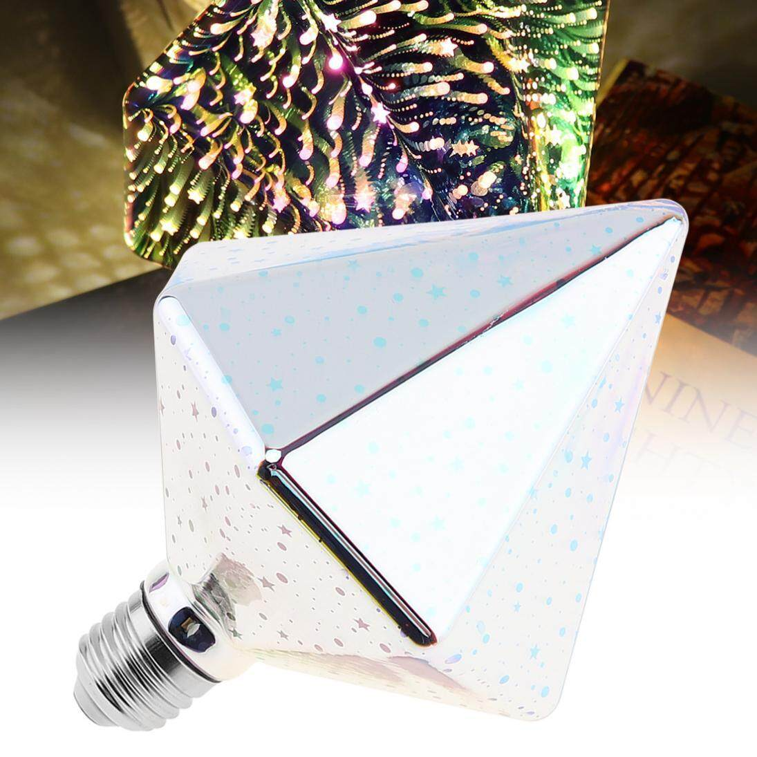85-265V 7W Color 360 Degree Led Light Bulb Drill Type 3D Decoration Fireworks Bulb