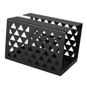 ขายช็อก BolehDeals Tissue Box Holder, Retangular Napkin Holder Paper Case Dispenser Black S ซื้อเลย - มีเพียง ฿181.64