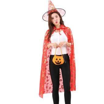 Harga preferensial Hetu Kostum Halloween Dewasa/Kostum Anak Bola Jubah Penyihir (Ukuran: S