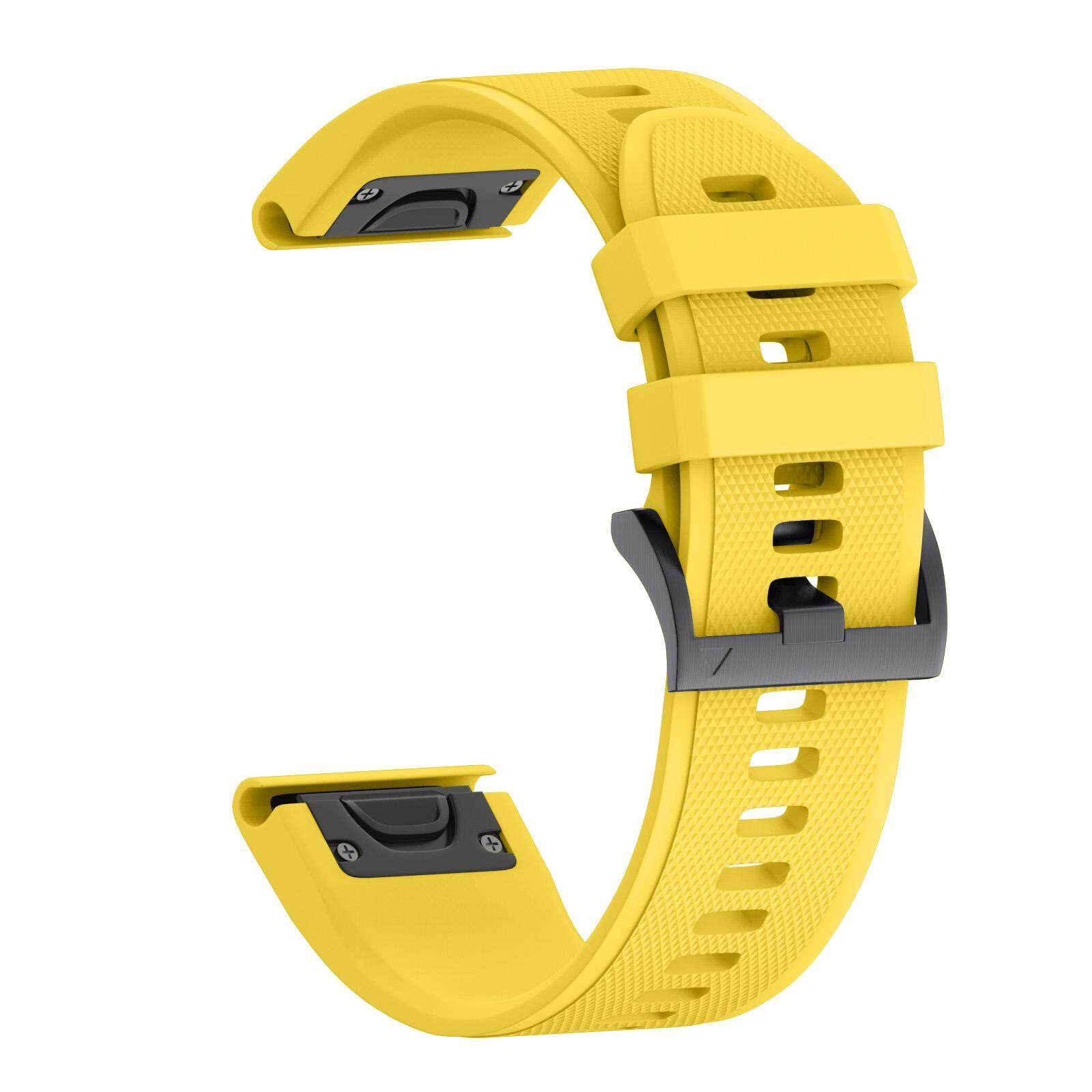 22MM Easy Fit Replacement Silicone Soft Quick Release Kit Band Strap For Garmin Fenix 5 / Forerunner 935 GPS Sport Watch – Yellow Malaysia