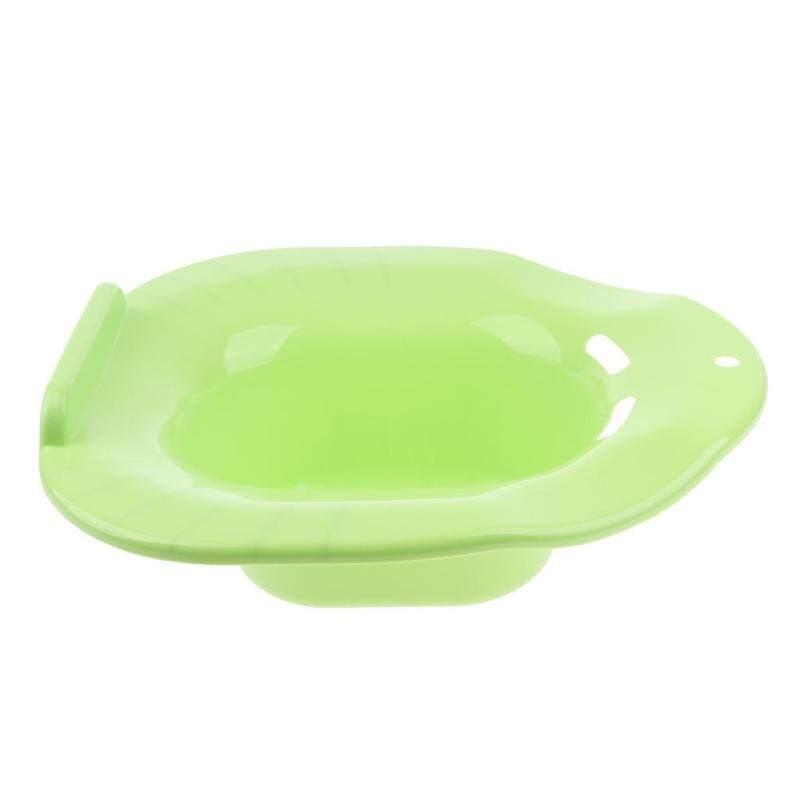 MagiDeal Hip Bath Tub Sitz Bath for Toilet Maternity Hemorrhoid Avoid Squatting Green