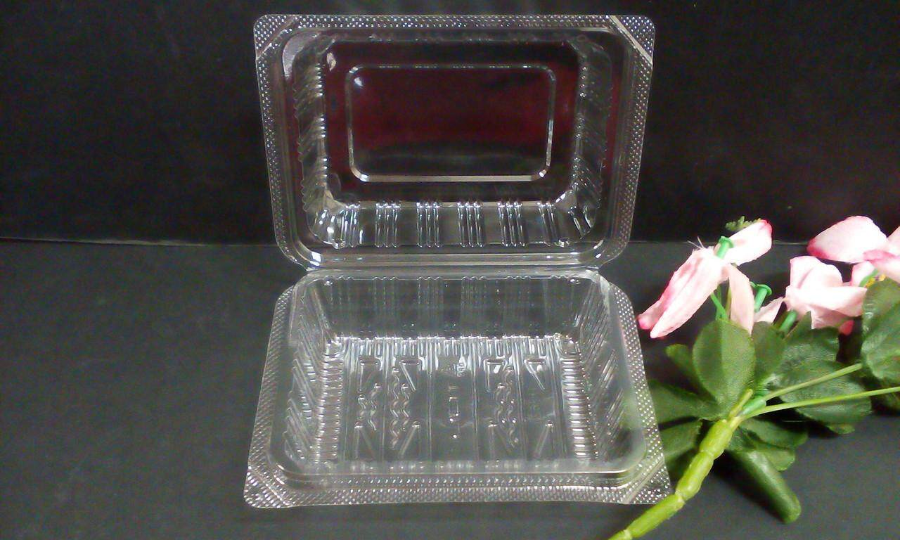 50 pcs disposable cake & kuih container. Ship in 6 Hours ! (clear)