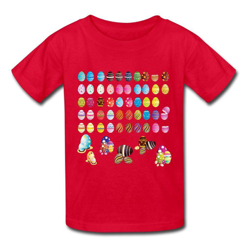 YONTH Kids Vector Easter Eggs T-shirt Fashion New Sport Teens Top - intl