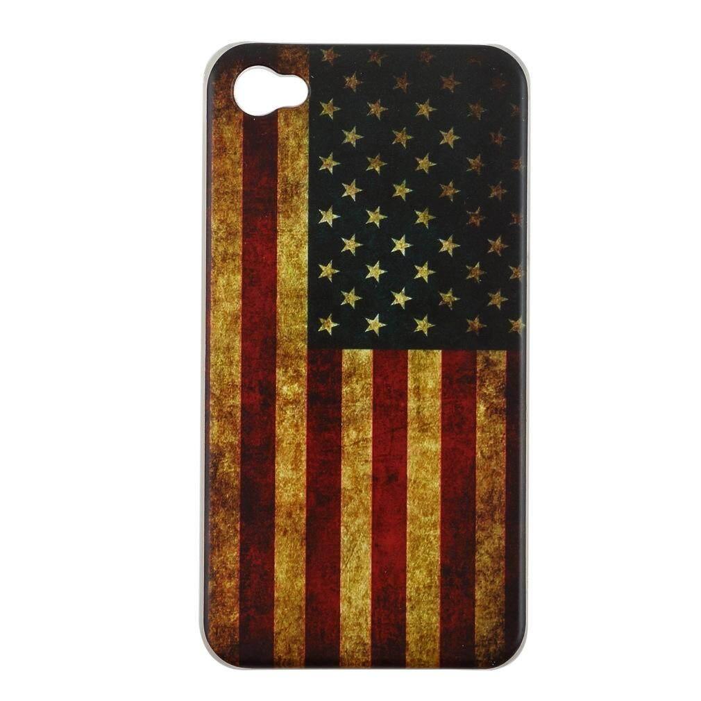 Xiner US AU Inggris Kanada CA Bendera Nasional Israel Casing Belakang Cover Kulit Keras untuk iPhone 4 4 S