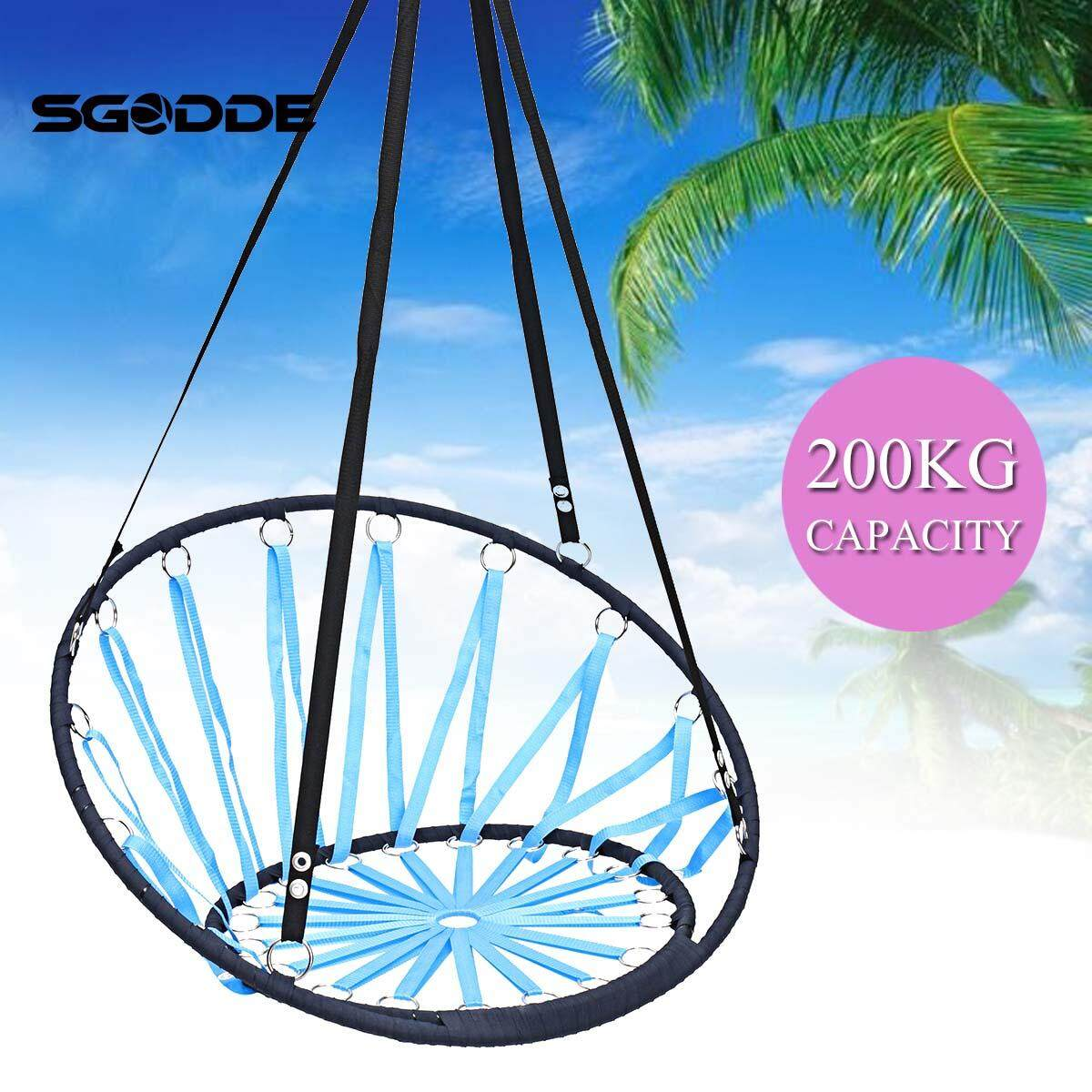 Hanging Hammock Chair Swing Outdoor Indoor Camping Garden Porch Patio Yard Beach Blue/Orange - intl