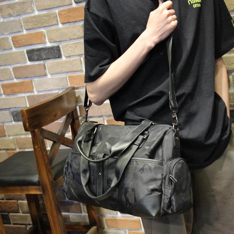 Men s Tote Bags portable large capacity camouflage gym bag travel short  trip travel bag shoulder Messenger 2c54f8af20920