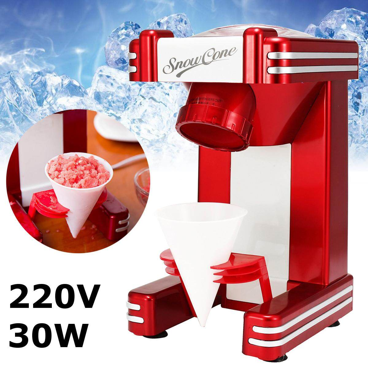 Electric Ice Shaver Crusher Machine Snow Cone Maker Crusher Shaving Cold Drink With Two Plastic Cone Cup By Moonbeam.