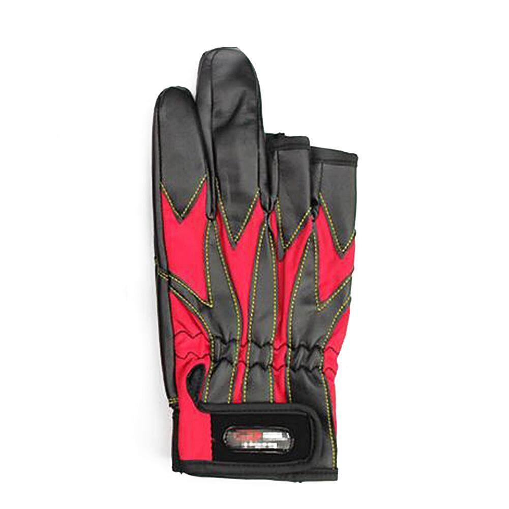 Redcolourful ถุงมือสำหรับผู้ชายกลางแจ้ง Warm Thicken Anti - Skid ตกปลากันน้ำถุงมือพิเศษ 3 สัมผัสนิ้วมือ.