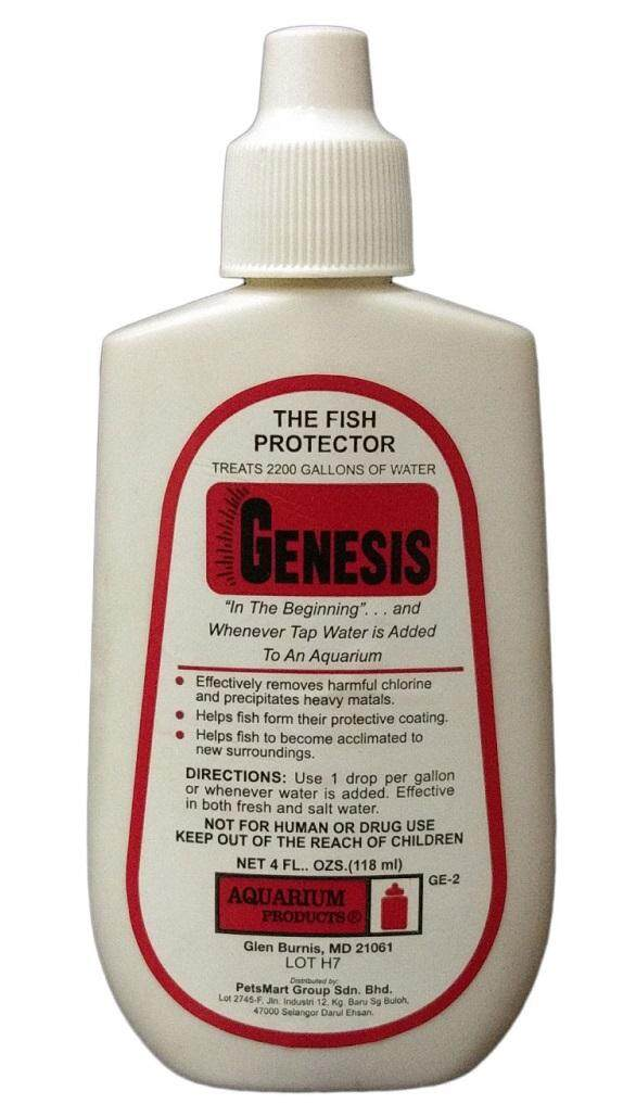 GENESIS - ANTI CHLORINE (WATER CONDITIONER) FISH PROTECTOR 118ML WITH FREE 200G BEAUTY FISH FOOD