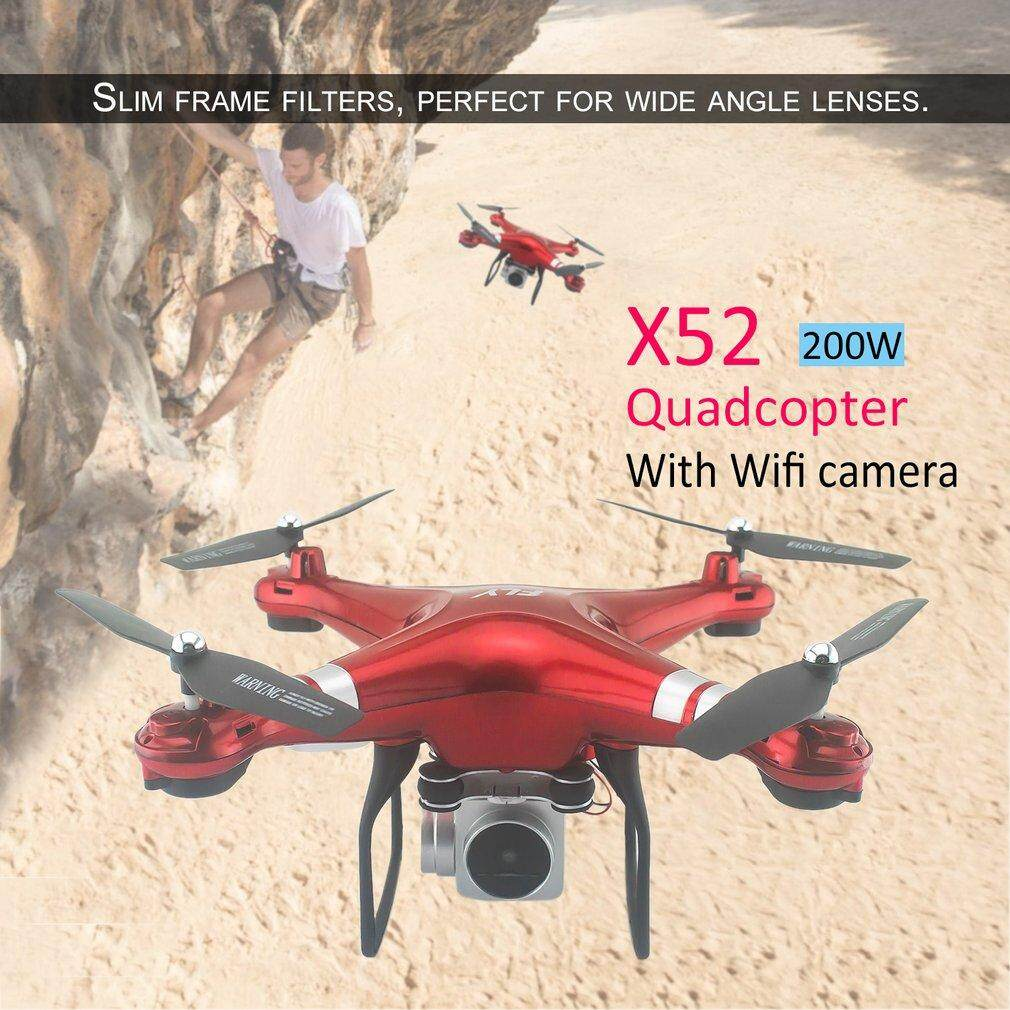 TOP X52 Wifi Drone Wide Angle Lens 2MP HD Camera Altitude Hold 2.4GHz RC Drone