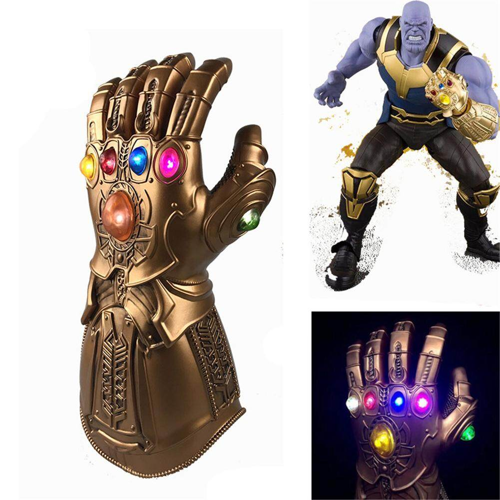 Avengers 3 สงครามอินฟินิตี้ Infinity Gauntlet ไฟ Led Thanos ถุงมือ Cosplay Prop By Aokaila.