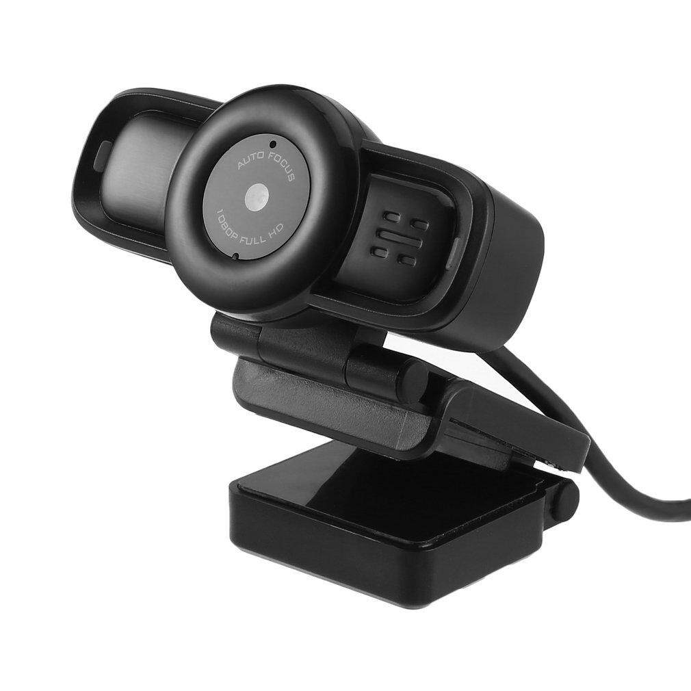 ELEC Auto Focus Webcam HD 1080P Camera with Built-in Noise Cancelling USB Plug