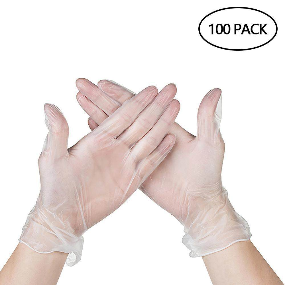 Goodgreat Disposable Non Latex Pvc Work Gloves, Clear Powder Free Vinyl Glove, Static-Free, Allergy Free, Non-Sterile, For Working, Cleaning - Home Or Industrial (box Of 100) By Good&great.