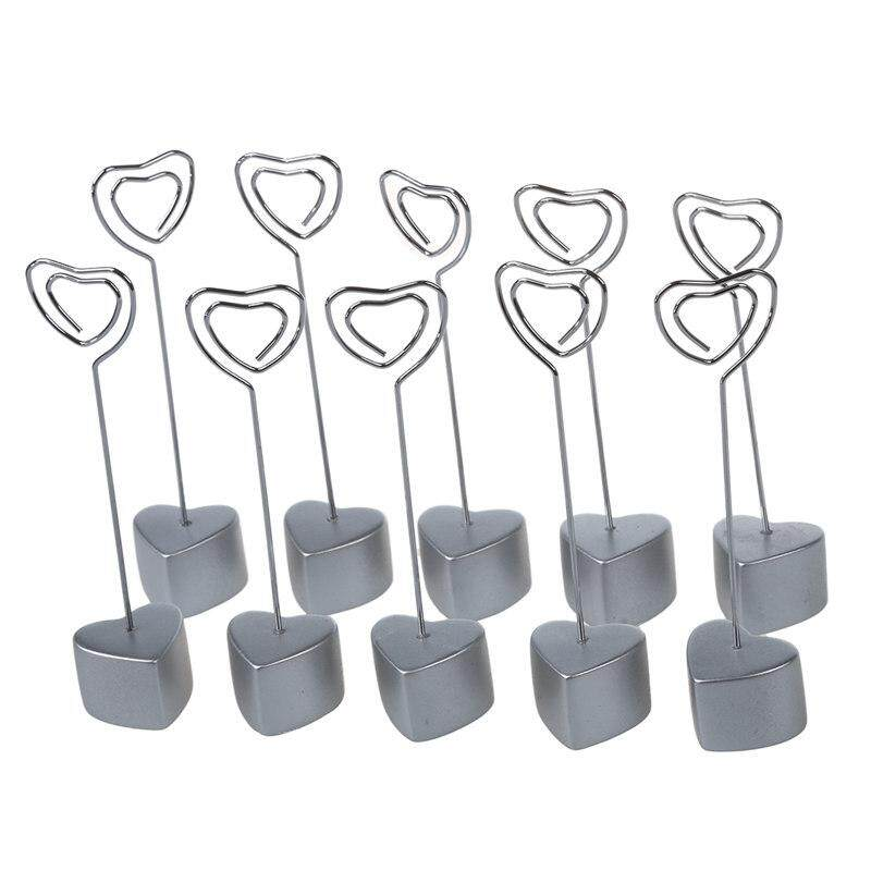 10 x Resin Scratch Pad Informal note clip silver(Heart-shaped caring bilayer )