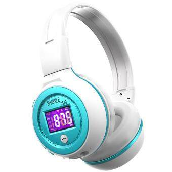 Pencarian Termurah SPARKLE B570 Stereo Bluetooth Headphone Hifi Wireless Earphone LCD Screen With Microphone FM Radio