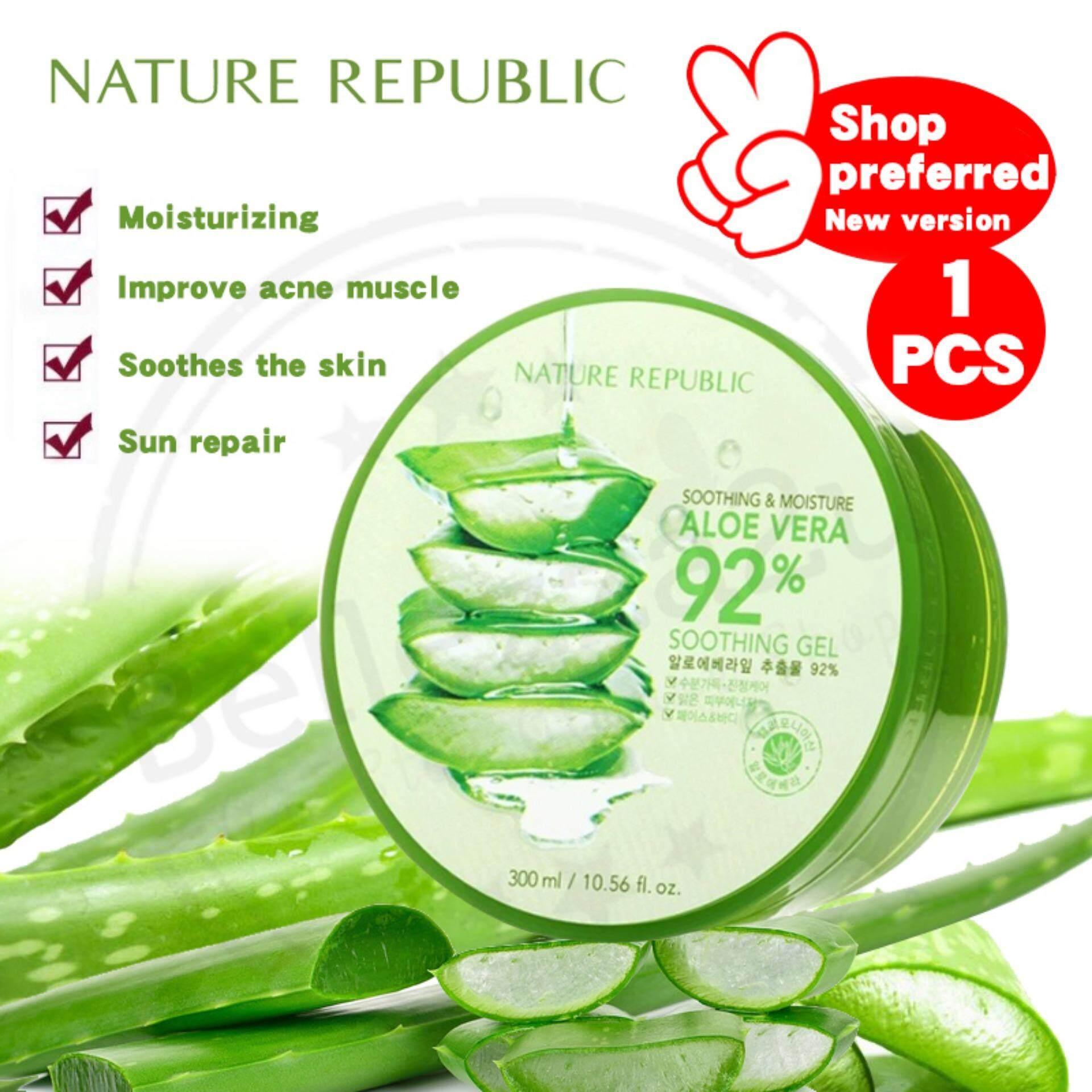 Fitur Nature Republic Aloe Vera Soothing Gel 92 Original Korea 300ml And Moisture