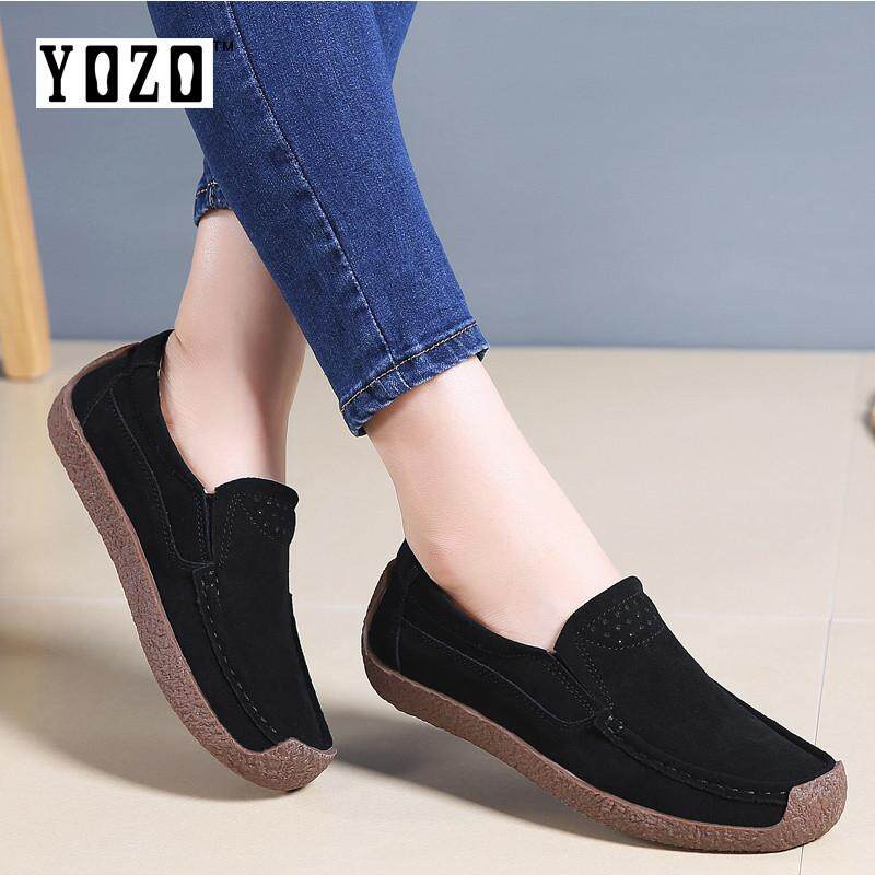 a4ada032fce YOZO Large Size Loafers Suede Thick Bottom Mother Shoes Shaking Shoes  Fashion Platform Shoes Moccasins