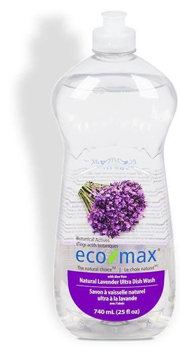 ECO-MAX Natural Lavender Ultra Dishwash with Aloe Vera, 740ml