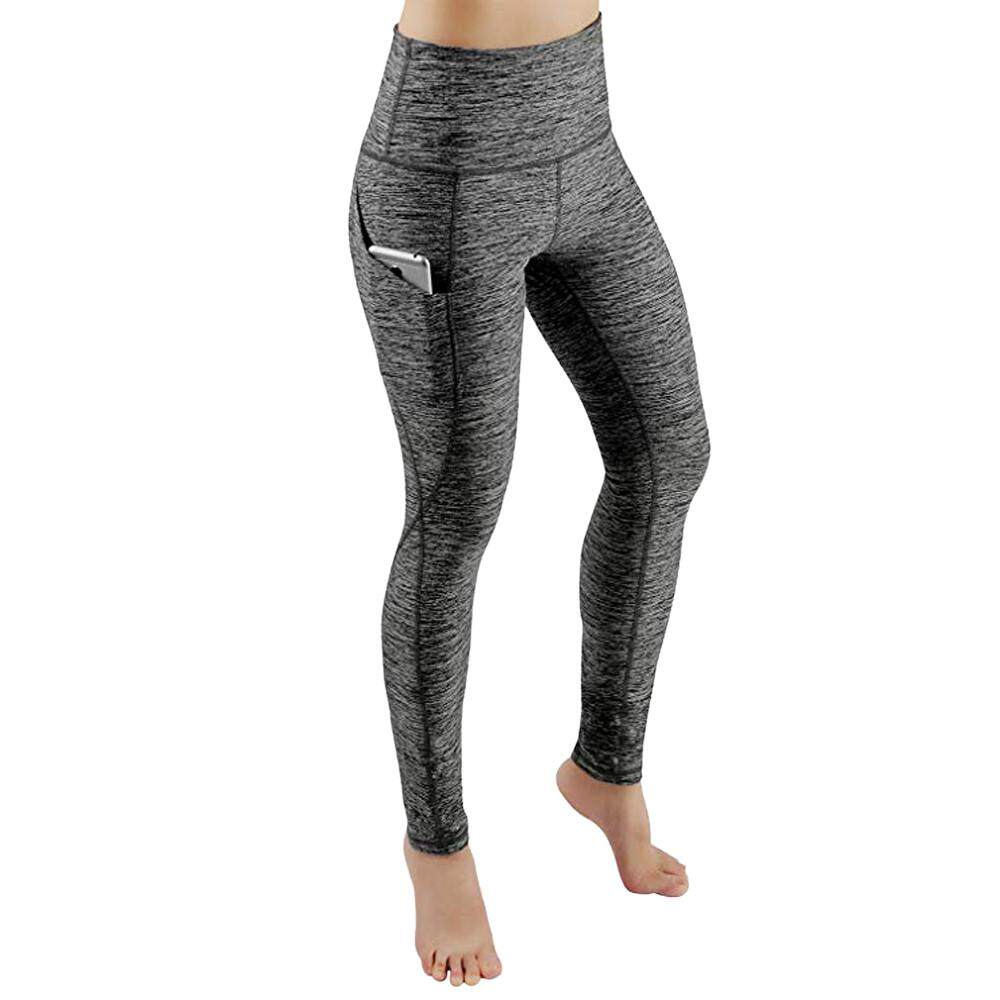 dbe8656b062274 Women Workout Out Pocket Leggings Fitness Sports Gym Running Yoga Athletic  Pants