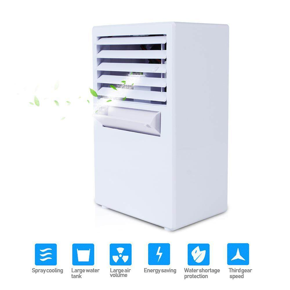 Air Conditioners Mini Portable Air Conditioner Table Desk Small Home Office Bladeless Fan Humidifier Quiet Personal Moisturizing Air Cooler