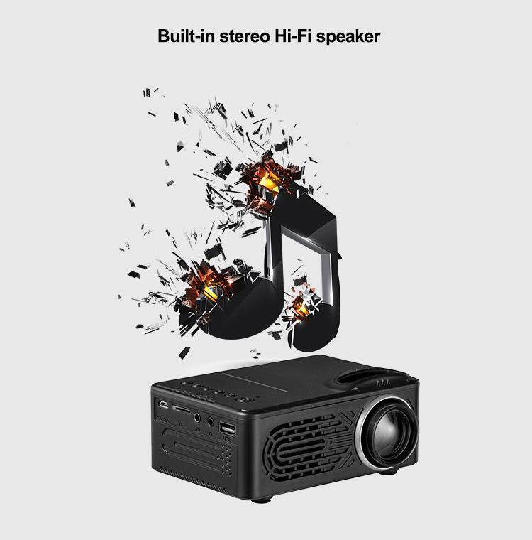 W-Toy Mini Projector Lcd Led Portable Projector Home Theatre Cinema Video Media Player By Wonderful Toy.