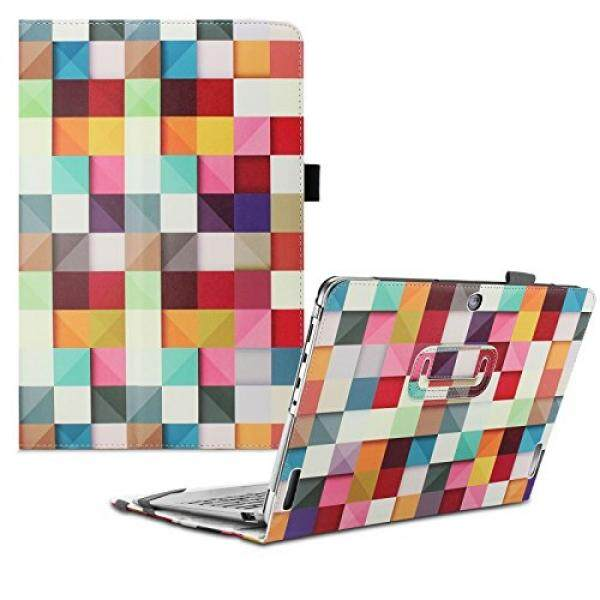 Tablet Cases Accessories Infiland ASUS Transformer Book T100HA Case, Premium PU Leather Stand Cover Case For ASUS Transformer Book T100HA 10.1 Laptop - Color Diamond - intl