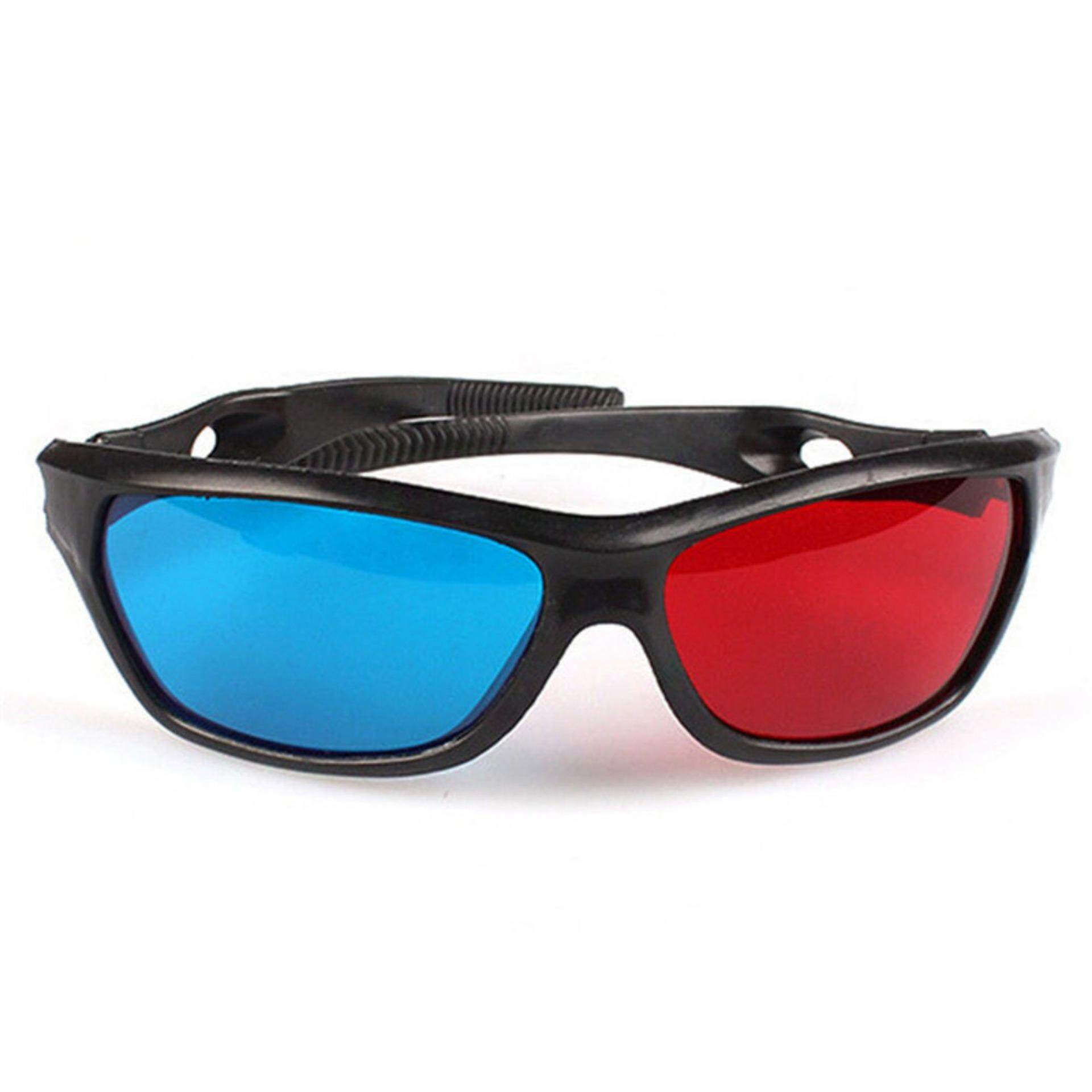 20ee1d9445 Jettingbuy Red Blue 3D Glasses For Dimensional Anaglyph Movie DVD Game With  Black Frame