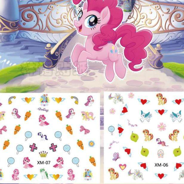 3D Nail stickers-Little pony, Frozen, Glow in the dark , princess for kids x 3 pcs