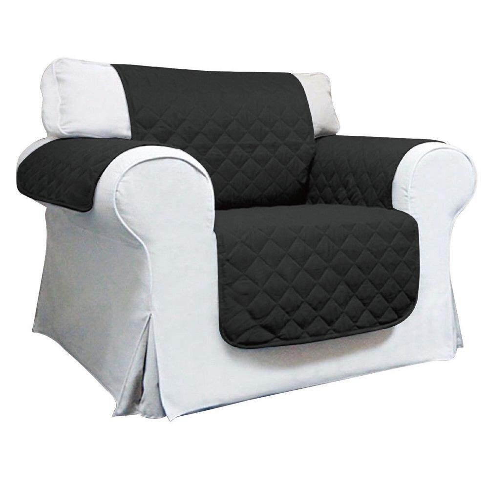 Berlapis Dekorasi Rumah Sarung Sofa Selip Grid Solid Anti-Skid Terintegrasi Sofa