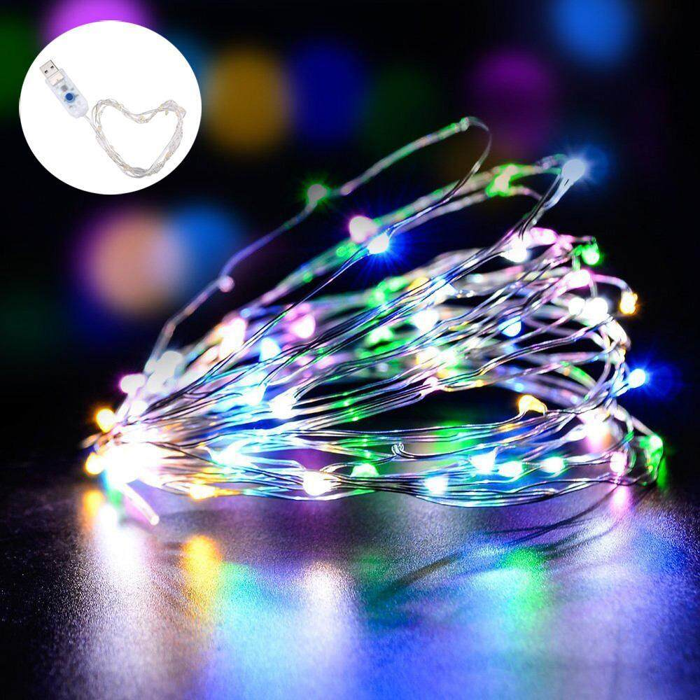 YJJZB LED Fairy String Lights Indoor And Outdoor 1m/ 3.3ft 50 LEDs Powered Via