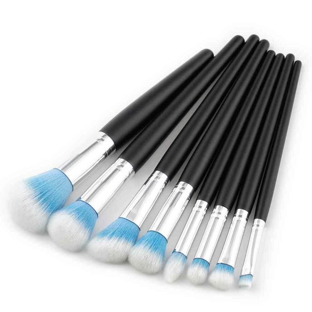 Buy Sell Cheapest 8pcs Round Makeup Best Quality Product Deals Kuas Lipstick Sikat Alis 3 Guna Dongxi Set Make Up Brush Tools Toiletry Kit