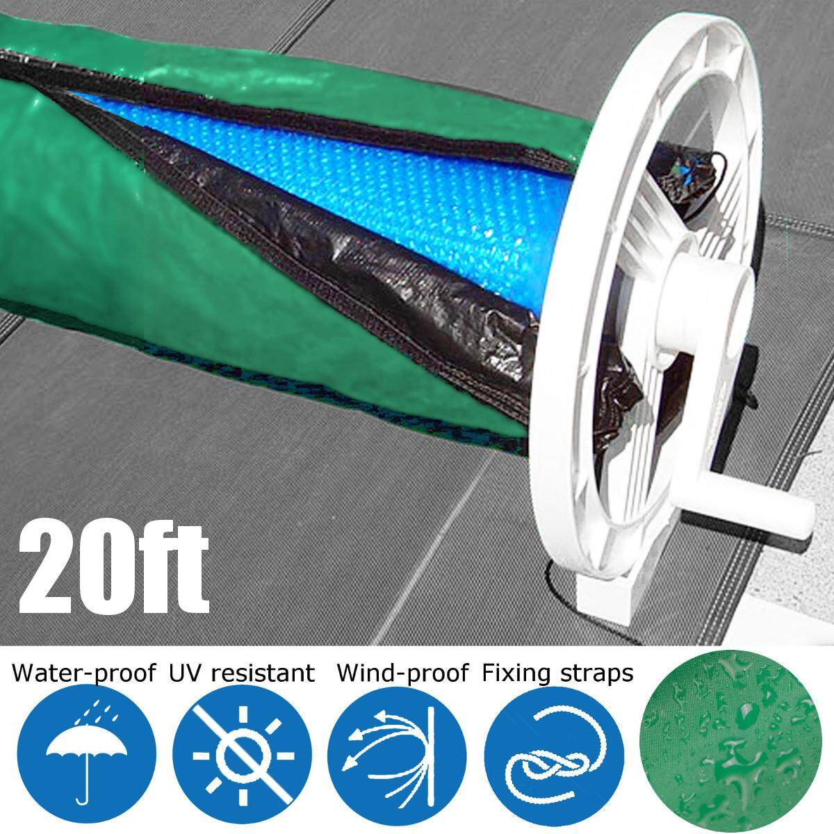 Solar Blanket Winter Cover For Swimming Pool Solar Roller Reel Up To 20 Wide
