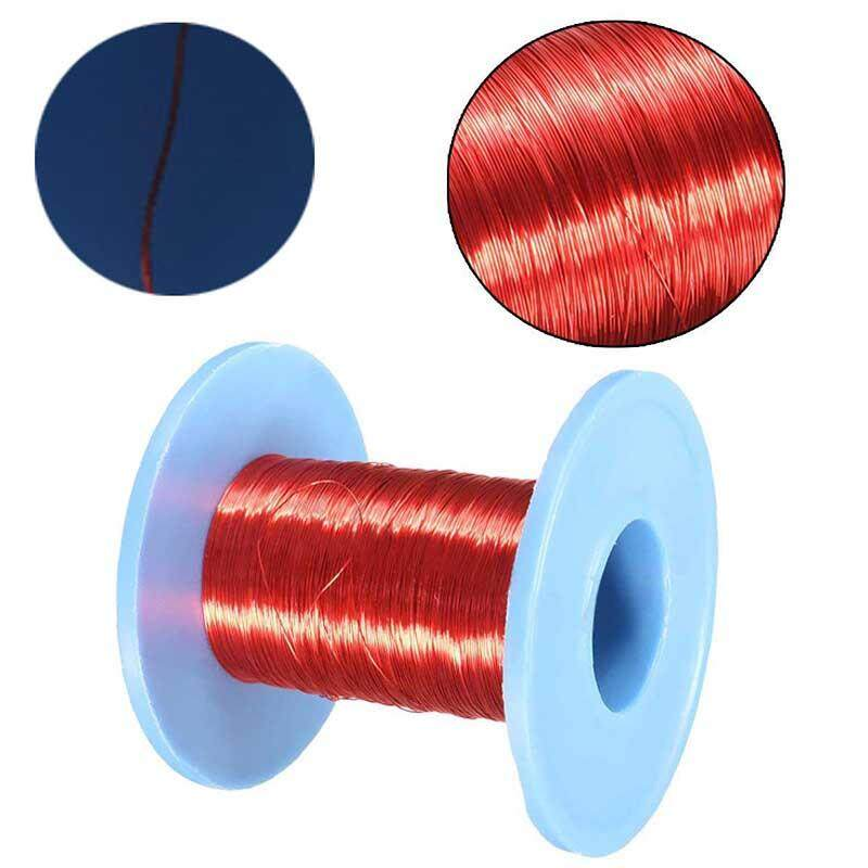 100m Magnet Wire 0.2mm QA Enameled Copper Wire Magnetic Coil Winding Red