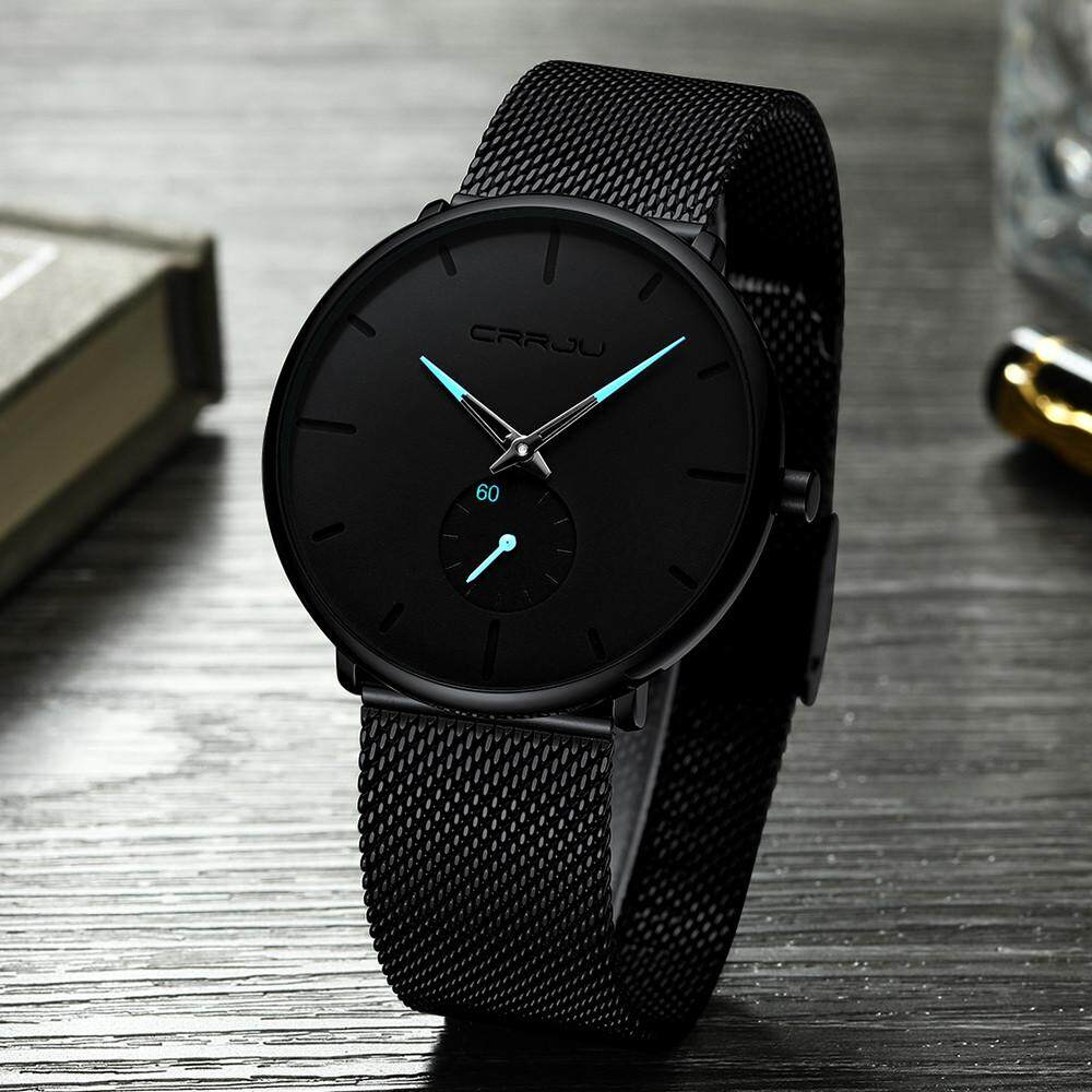 Fashion Deal 30 Meter Waterproofing Super Thin Mens Business Watch Black Leisure Wristwatch By Fashion Deal.