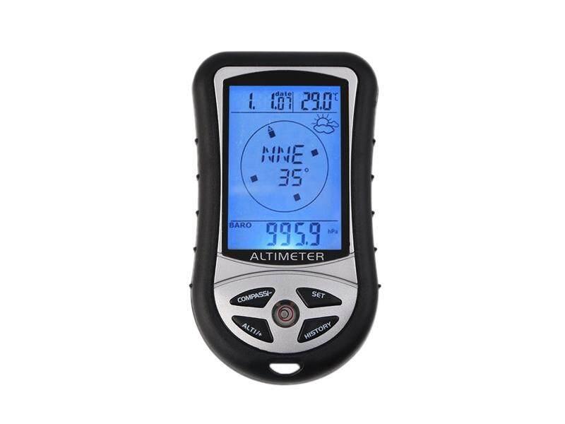 Hình ảnh 8 in 1 Digital LCD Compass Altimeter Barometer Thermo Temperature Calendar - intl