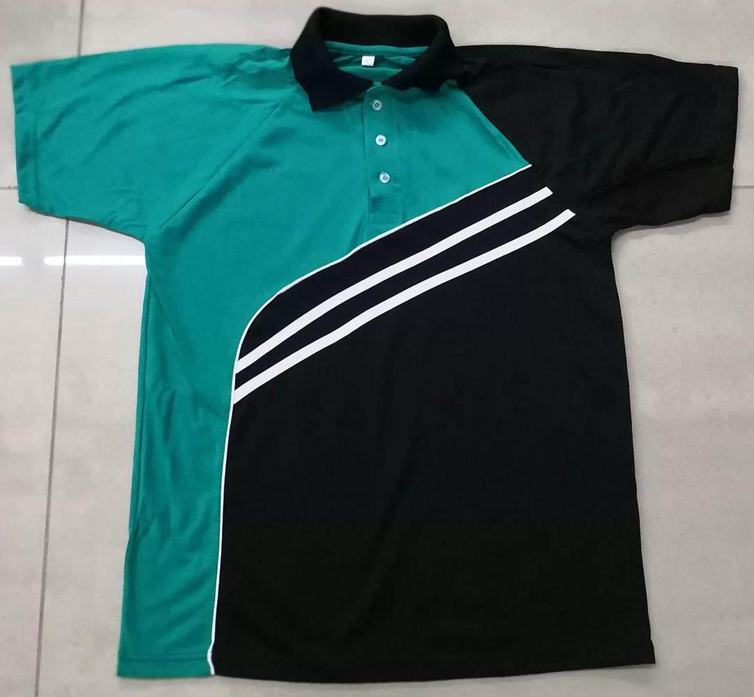Tshirt Berkolar Warna Hijau Petronas Lengan Pendek Latest Design