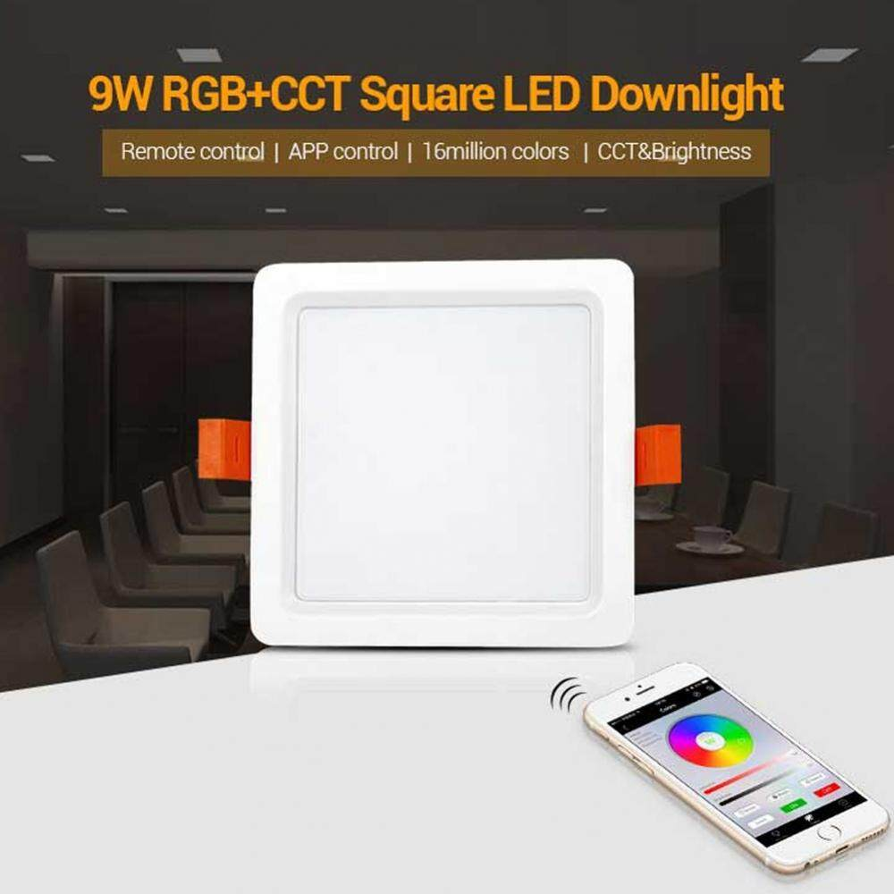 Milight 2.4G Wireless 9W RGB+CCT Quadratic LED Downlight Dimmable Remote Controllable - intl
