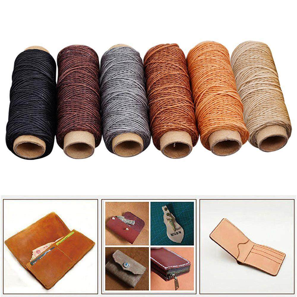 Niceeshop 6pcs 150d 50 Meter 1mm Leather Waxed Wax Thread Cord Craft For Diy Tool Stiching By Nicee Shop.