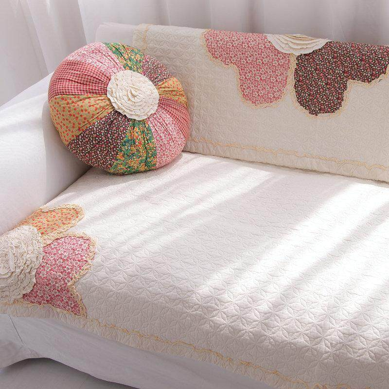 Four Seasons Pure Cotton Sofa Coaster Minimalist Modern 100% Cotton Sofa Cover Towel European Style Window throw pillow Pastoral Fabric throw pillow