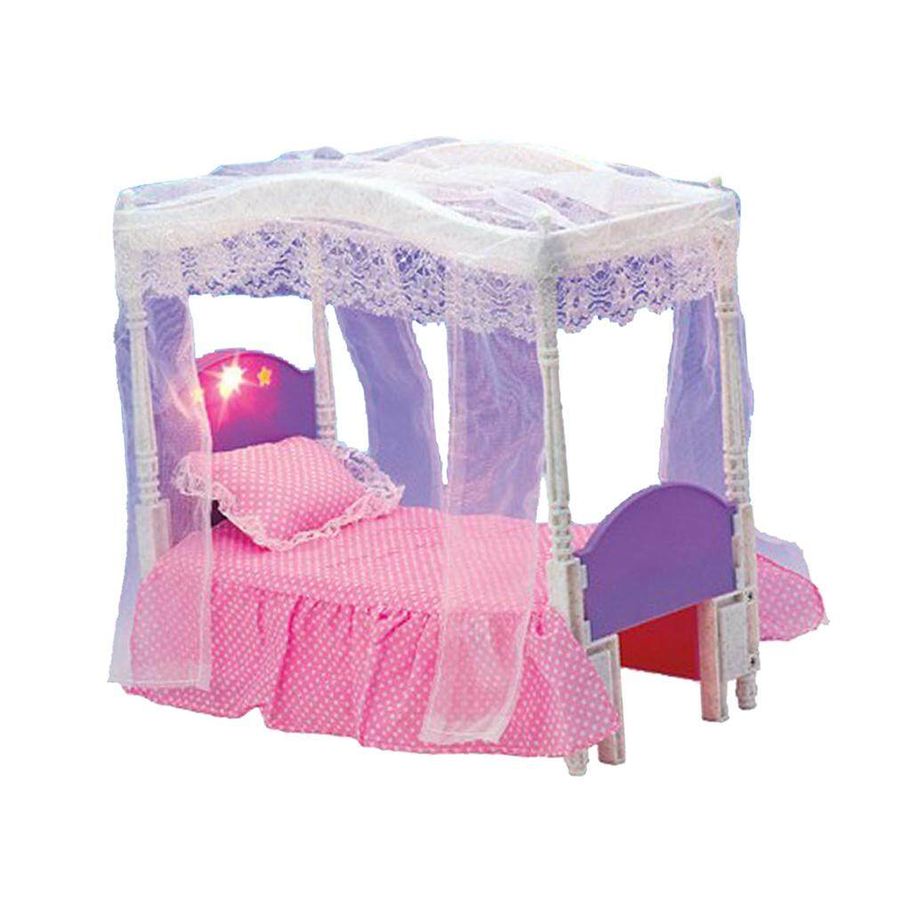 BolehDeals Plastic Bedroom Sweet Dream Bed Furniture and Accessories Play  Set for Barbie Doll House Kids 0e966748e0